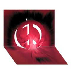 Scream Peace Sign 3D Greeting Card (7x5)