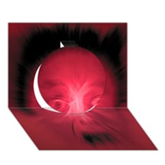 Scream Circle 3d Greeting Card (7x5)