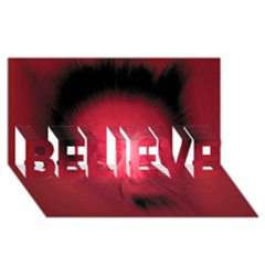 Scream Believe 3d Greeting Card (8x4)