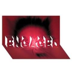 Scream ENGAGED 3D Greeting Card (8x4)