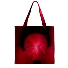 Scream Zipper Grocery Tote Bags