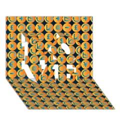 Symbols Pattern LOVE 3D Greeting Card (7x5)