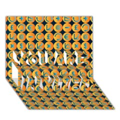 Symbols Pattern YOU ARE INVITED 3D Greeting Card (7x5)