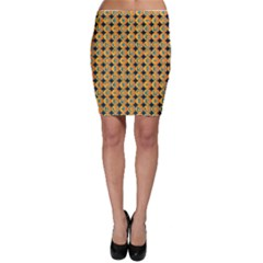 Symbols Pattern Bodycon Skirts