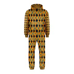 Symbols Pattern Hooded Jumpsuit (kids)