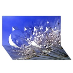 Dandelion 2015 0704 Twin Hearts 3D Greeting Card (8x4)