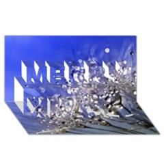 Dandelion 2015 0704 Merry Xmas 3d Greeting Card (8x4)