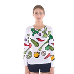 Vegetables 01 Women s Long Sleeve T-shirts