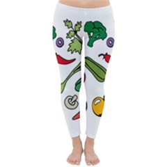 Vegetables 01 Winter Leggings