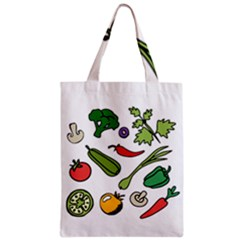 Vegetables 01 Zipper Classic Tote Bags