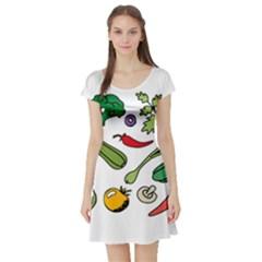 Vegetables 01 Short Sleeve Skater Dresses