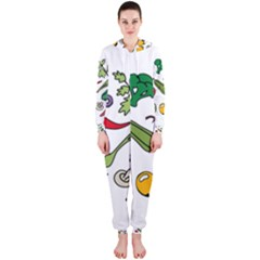 Vegetables 01 Hooded Jumpsuit (Ladies)