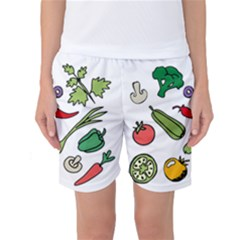 Vegetables 01 Women s Basketball Shorts