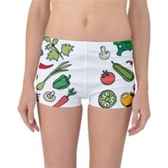 Vegetables 01 Reversible Boyleg Bikini Bottoms