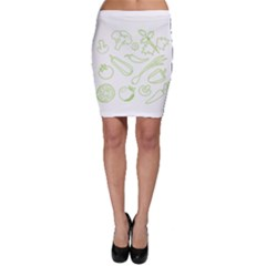 Green Vegetables Bodycon Skirts