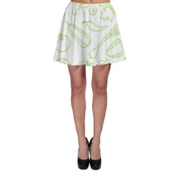 Green Vegetables Skater Skirts