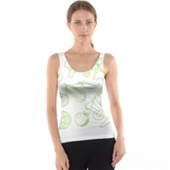 Green Vegetables Tank Tops