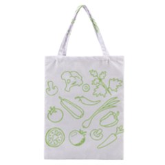 Green Vegetables Classic Tote Bags