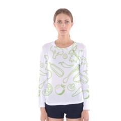 Green Vegetables Women s Long Sleeve T-shirts