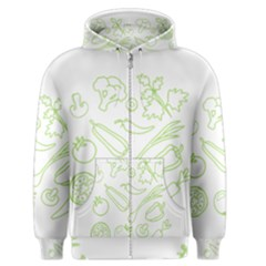 Green Vegetables Men s Zipper Hoodies