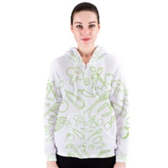 Green Vegetables Women s Zipper Hoodies