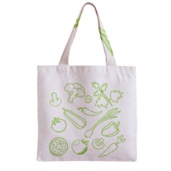 Green Vegetables Zipper Grocery Tote Bags