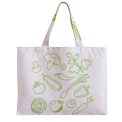 Green Vegetables Zipper Tiny Tote Bags