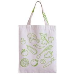 Green Vegetables Zipper Classic Tote Bags