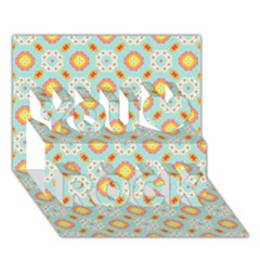 Cute Seamless Tile Pattern Gifts You Rock 3D Greeting Card (7x5)