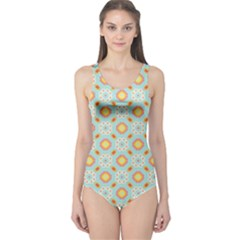 Cute Seamless Tile Pattern Gifts Women s One Piece Swimsuits