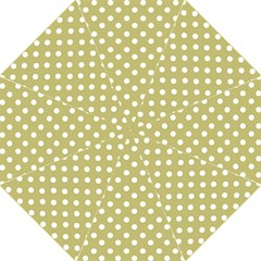 Lime Green Polka Dots Straight Umbrellas