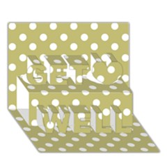Lime Green Polka Dots Get Well 3D Greeting Card (7x5)