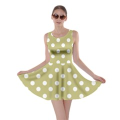 Lime Green Polka Dots Skater Dresses