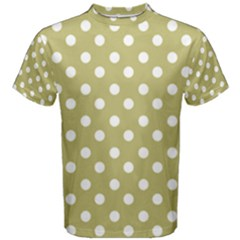 Lime Green Polka Dots Men s Cotton Tees