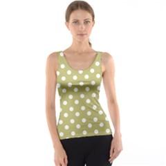 Lime Green Polka Dots Tank Tops