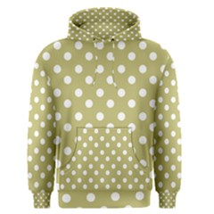 Lime Green Polka Dots Men s Pullover Hoodies