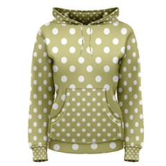 Lime Green Polka Dots Women s Pullover Hoodies
