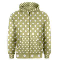 Lime Green Polka Dots Men s Zipper Hoodies