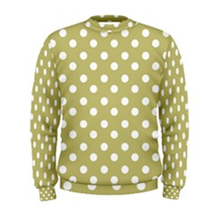 Lime Green Polka Dots Men s Sweatshirts