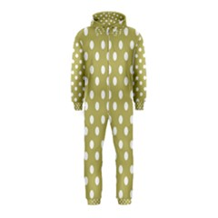 Lime Green Polka Dots Hooded Jumpsuit (Kids)