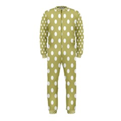 Lime Green Polka Dots OnePiece Jumpsuit (Kids)