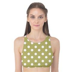 Lime Green Polka Dots Tank Bikini Top