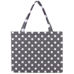 Gray Polka Dots Tiny Tote Bags