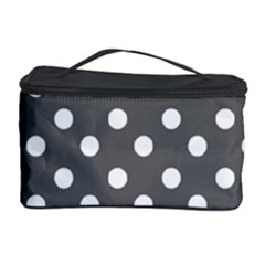 Gray Polka Dots Cosmetic Storage Cases
