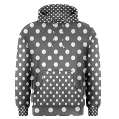 Gray Polka Dots Men s Pullover Hoodies