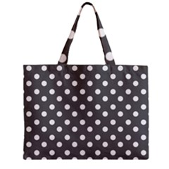 Gray Polka Dots Zipper Tiny Tote Bags