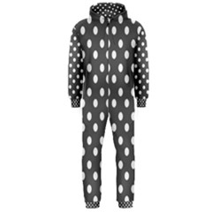 Gray Polka Dots Hooded Jumpsuit (Men)