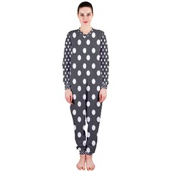 Gray Polka Dots OnePiece Jumpsuit (Ladies)
