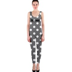 Gray Polka Dots OnePiece Catsuits