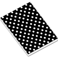 Black And White Polka Dots Large Memo Pads